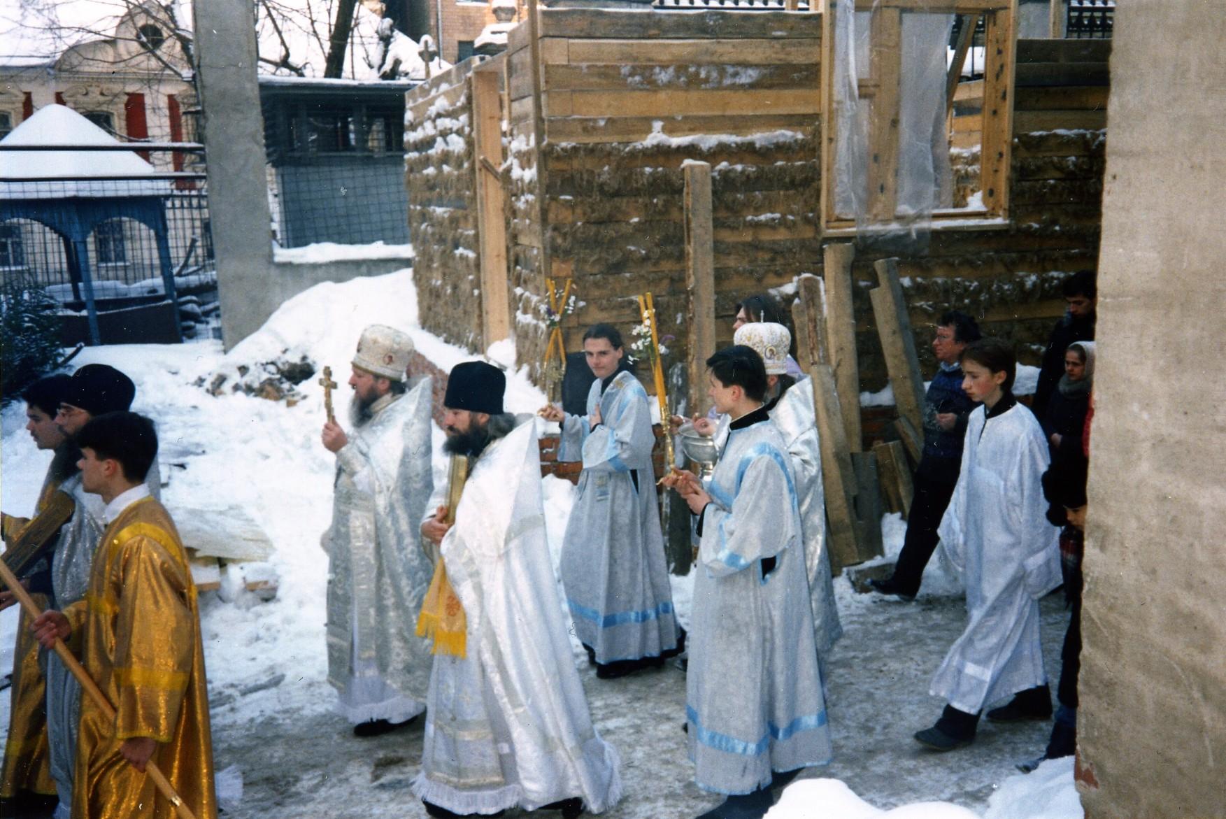 Крестный ход на Богоявление 1993 г.